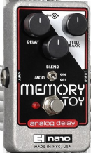 ELECTRO HARMONIX MEMORY TOY Analog Delay With Modulation Guitar Pedal Stomp Box